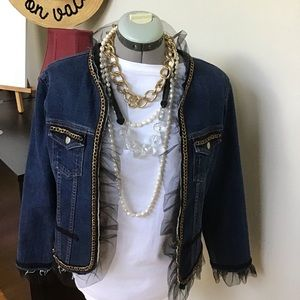 Original Chanel style denim jacket. L